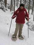 Snowshoe walking